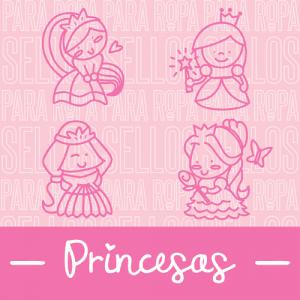 Sellos para Ropa y Papel Colección Princesas