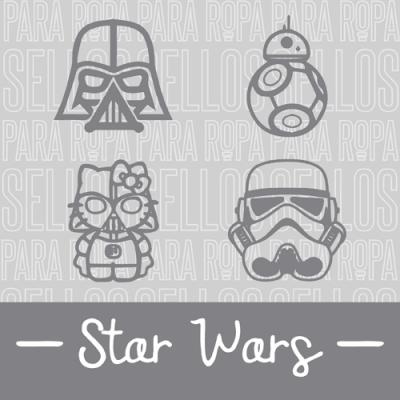 Sellos para Ropa y Papel Star Wars