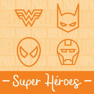 Sellos para Ropa y Papel Super Héroes