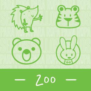 Sellos para Ropa y Papel Zoo