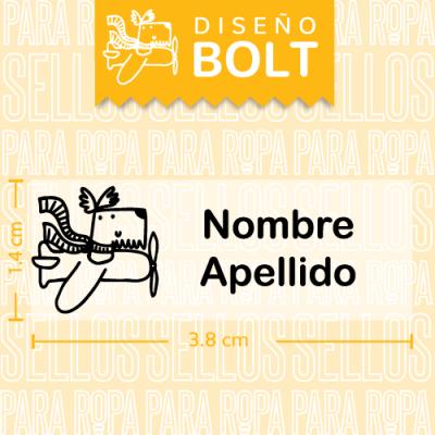 Sellos-para-Ropa-Personalizados-DF-Bolt