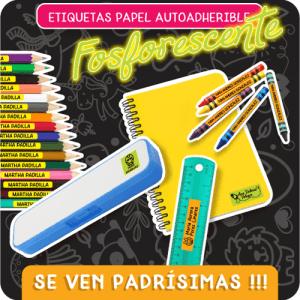 Etiquetas-Papel-Autoadheribles-Fosforescente