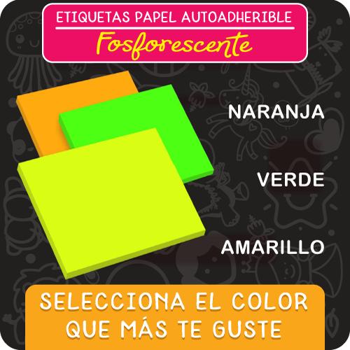 Etiquetas-Papel-Autoadheribles-Fosforescente-Colores