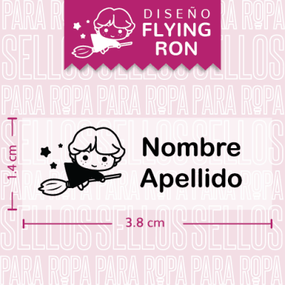 etiquetas-para-ropa-harry-potter-flying-ron