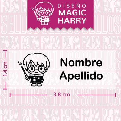 sellos-para-ropa-harry-potter-Magic-Harry