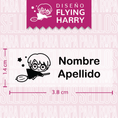 sellos-para-ropa-harry-potter-flying-harry